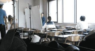 塾広告撮影風景